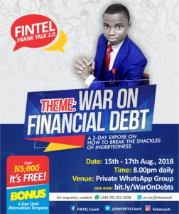 #WarOnDebts MasterClass with the FINTEL Coach
