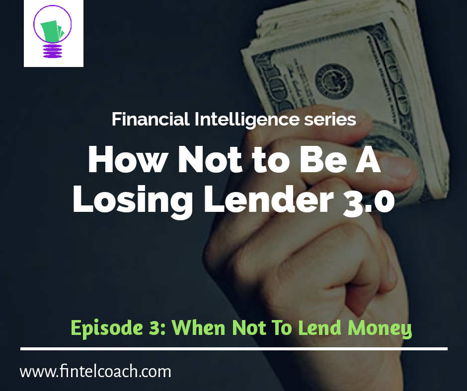 Lender, lend money, fintelcoach