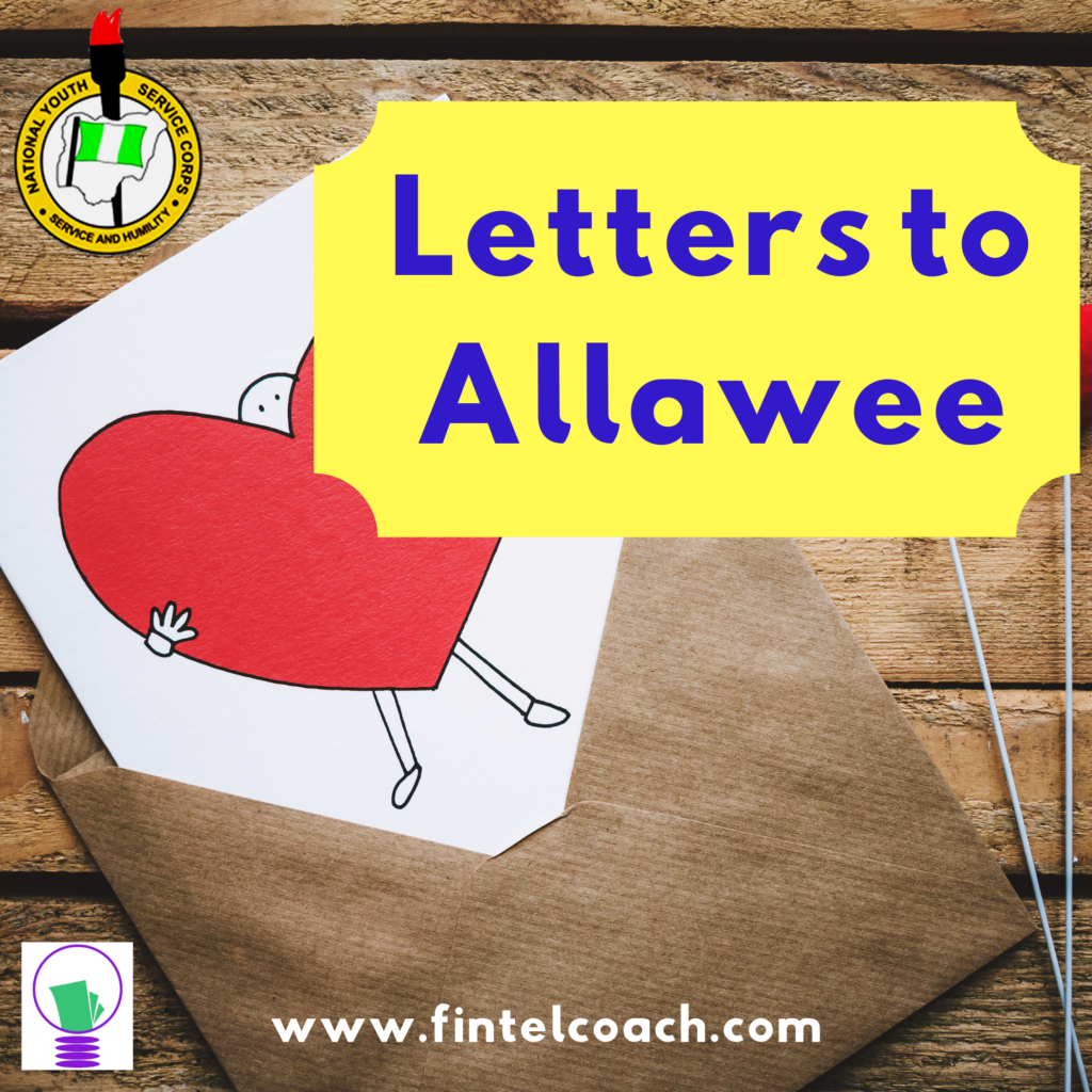 Letters to NYSC Allawee, FINTEL Coach